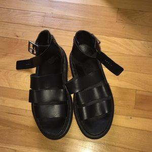 Doc Marten Clarissa Bando Black Leather Sandals